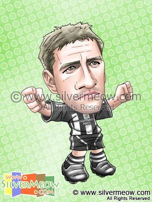 Soccer Player Caricature - Michael Owen (Newcastle)