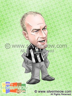 Soccer Player Caricature - Alan Shearer (Newcastle)