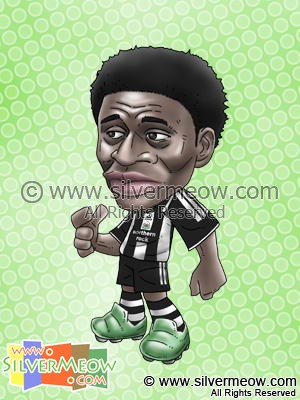 Soccer Player Caricature - Obafemi Martins (Newcastle)