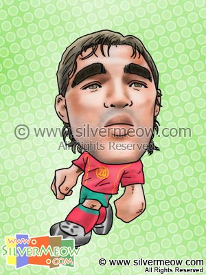 Soccer Player Caricature - Anderson Deco (Portugal)