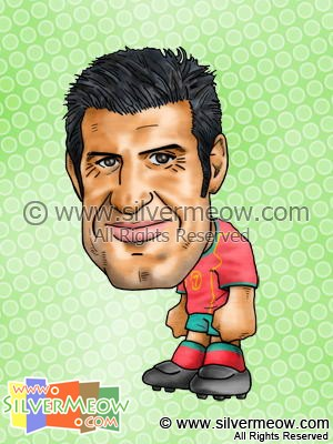 Soccer Player Caricature - Luis Figo (Portugal)