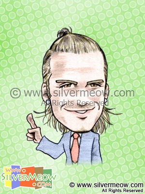 Soccer Player Caricature - David Beckham (Real Madrid)