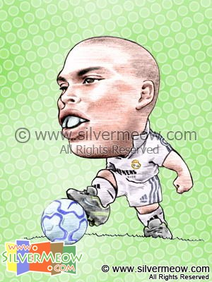 Soccer Player Caricature - Ronaldo (Real Madrid)