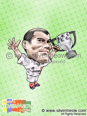 Soccer Player Caricature - Zinedine Zidane (Real Madrid)