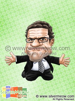 Soccer Player Caricature - Fabio Capello (Real Madrid)