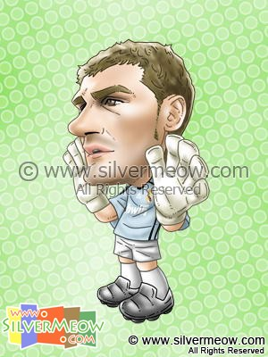 Soccer Player Caricature - Iker Casillas (Real Madrid)