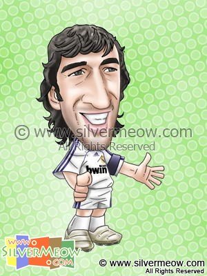 Soccer Player Caricature - Raul Gonzalez (Real Madrid)