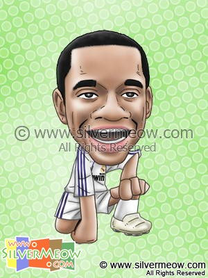 Soccer Player Caricature - Robinho (Real Madrid)