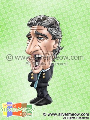 Soccer Player Caricature - Manuel Pellegrini (Real Madrid)