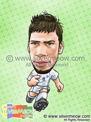 Soccer Player Caricature - Mateja Kezman (Serbia And Montenegro)