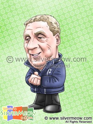 Soccer Player Caricature - Harry Redknapp (Tottenham)