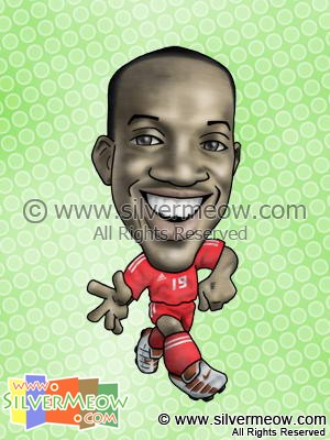 Soccer Player Caricature - Dwight Yorke (Trinidad And Tobago)