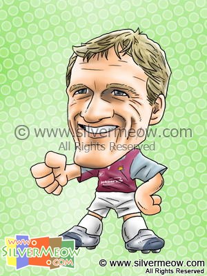 Soccer Player Caricature - Teddy Sheringham (West Ham)