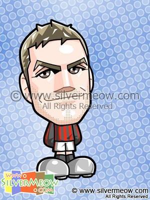 Soccer Toon - David Beckham (AC Milan)