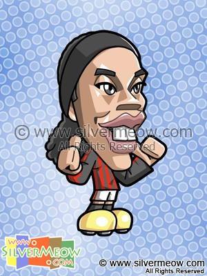 Soccer Toon - Ronaldinho (AC Milan)