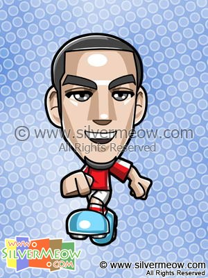 Soccer Toon - Theo Walcott (Arsenal)