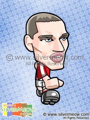 Soccer Toon - Thomas Vermaelen (Arsenal)