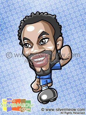 Soccer Toon - Michael Essien (Chelsea)