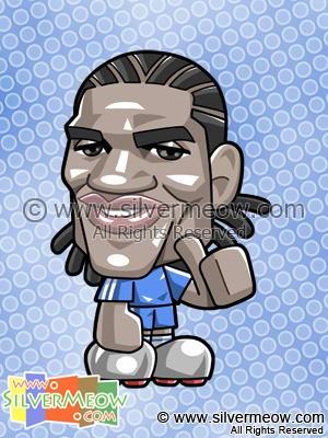 Soccer Toon - Florent Malouda (Chelsea)
