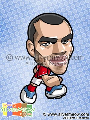 Soccer Toon - Ashley Cole (England)