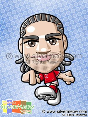 Soccer Toon - Glen Johnson (England)