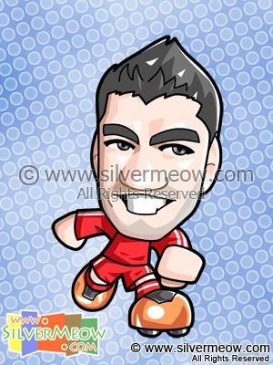 Soccer Toon - Luis Suarez (Liverpool)