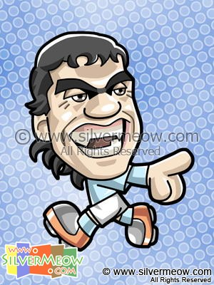 Soccer Toon - Carlos Tevez (Manchester City)