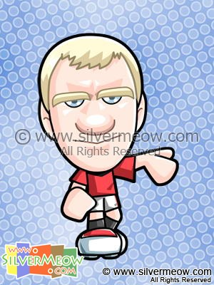 Soccer Toon - Paul Scholes (Manchester United)