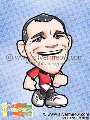 Soccer Toon - Ryan Giggs (Manchester United)