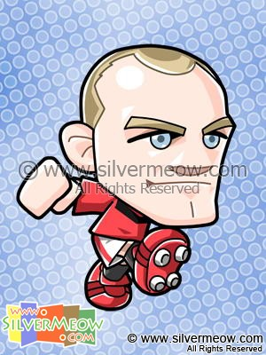 Soccer Toon - Wayne Rooney (Manchester United)