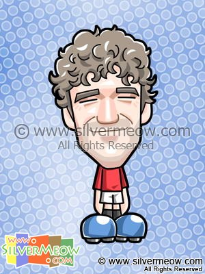 Soccer Toon - Owen Hargreaves (Manchester United)