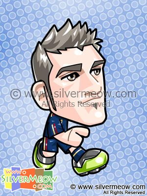 Soccer Toon - David Villa (Spain)