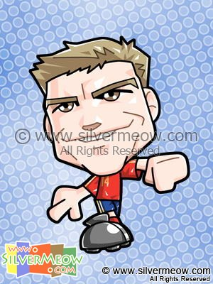 Soccer Toon - Xabi Alonso (Spain)