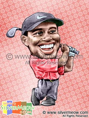 Sport Caricatures - Tiger Woods (Golf)