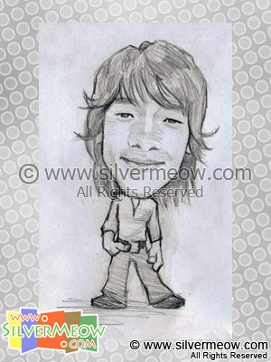 Star Caricatures - Korean Star Rain